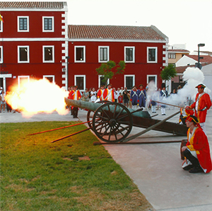 A GUN SALUTE AT THE COMMEMORATION OF THE TREATY OF AMIENS